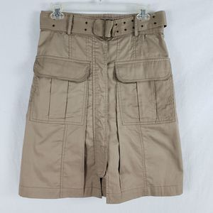 Plenty Tracy Reese Cargo Pocket Skirt Khaki Tan